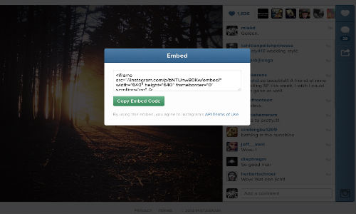 Instagram Adds Embedding Feature For Photos And Videos
