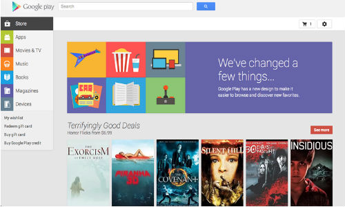 Google Play Web Version Updated With Revamped User Interface