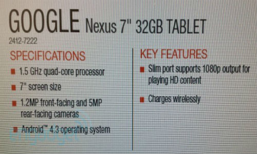Next Gen Nexus 7 to Sport Wireless Charging and Android 4.3 Jelly Bean