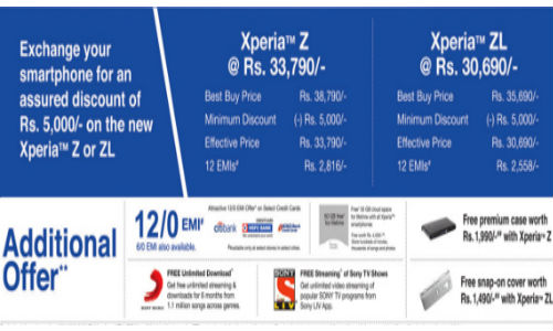 Sony Xperia Z and ZL Up For Exchange Offer: Scheme Worth Rs 5,000
