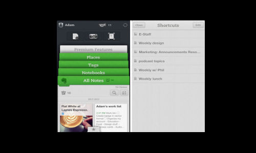 Evernote For iOS Updated To Bring Shortcuts And Skitch Support