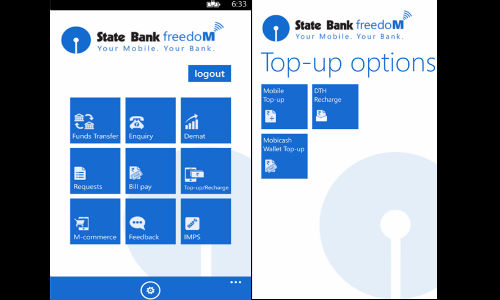 Sbi launches state bank freedom app for windows phone users in.