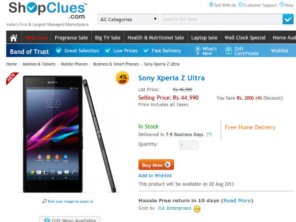 Price at Rs 44,990