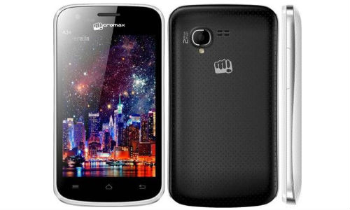 Micromax A34 Android Smartphone Launched Online at Rs 4,399