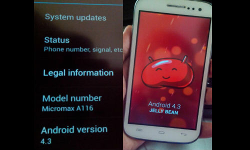 Micromax Canvas HD To Receive Android 4.3 Jelly Bean Update Soon