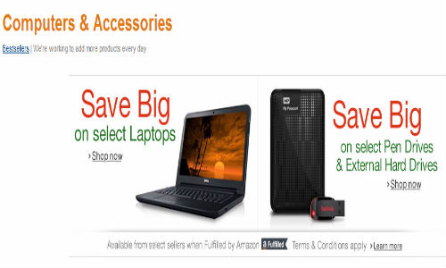 Amazon India Starts Selling Computer and Related accessories