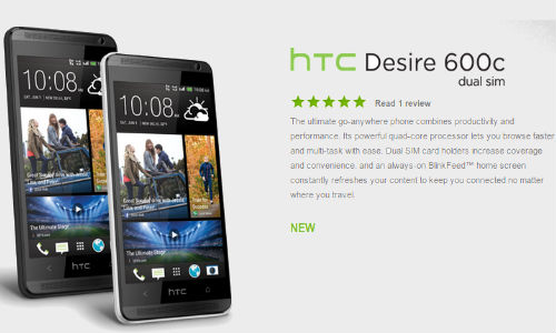 HTC Desire 600c dual SIM Gets Listed In Company Website: Coming Soon