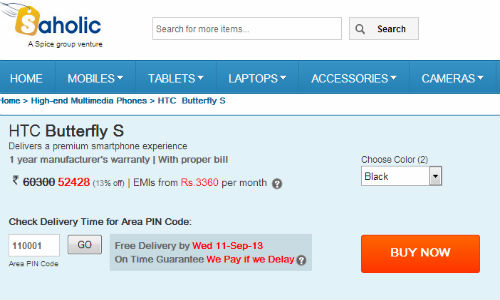 HTC Butterfly S Now Available for Pre-Order in India at Rs. 52,428