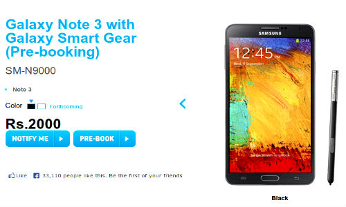 Samsung Galaxy Note 3 and Galaxy Gear Up For Pre-Booking In India