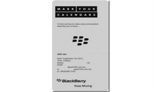 BlackBerry Sends Press Invites For Unexpected Event On 18 September