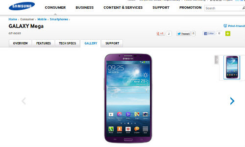 Samsung Galaxy Mega 6.3 Purple Variant Gets Listed Online