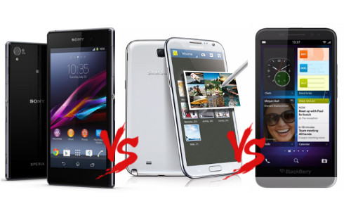 Xperia Z1 vs Galaxy Note 3 vs BlackBerry Z30: The Phablet War Fuels Up