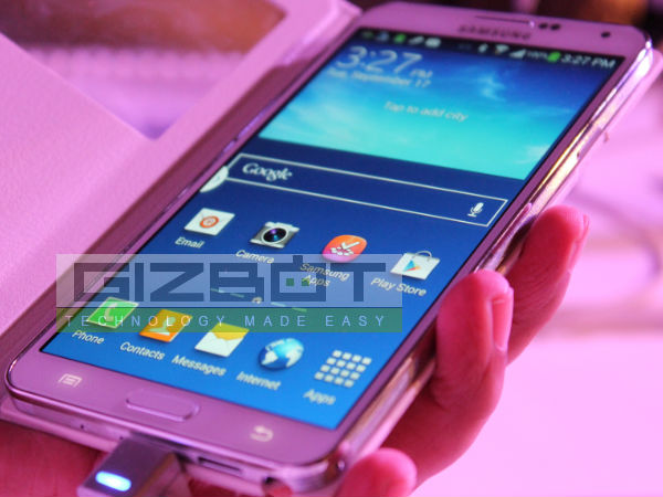 Samsung Galaxy Note 3 Hands on: First look [PICTURES]