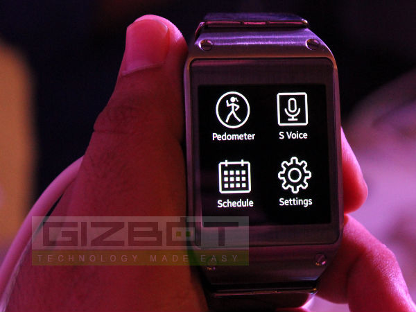 Samsung Galaxy Gear Hands On: First Look [PICTURES]