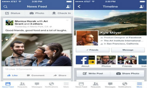 Facebook 6.5 Now Live With Revamped iOS 7 Savvy Layout