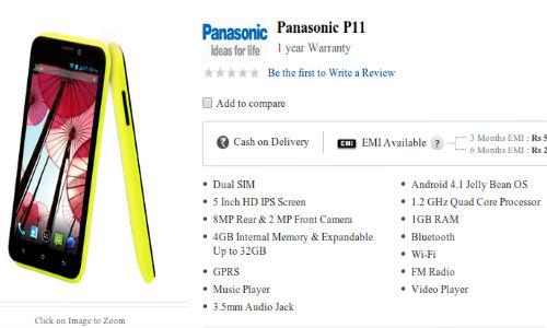 Panasonic T11, P11: Dual SIM Quad Core Smartphones Launched Online