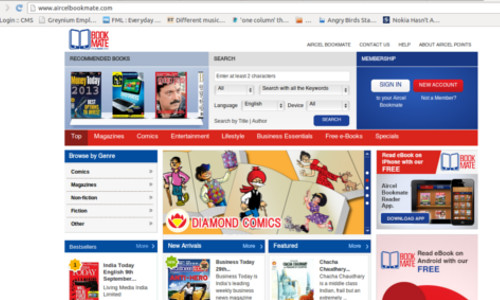 Aircel Introduces eBooks Store Aircel BookMate