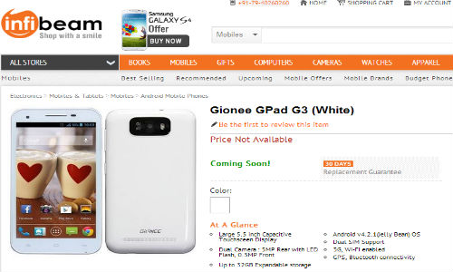 Gionee GPad G3 : 5.5 Inch Handset All Set To Launch in India Soon
