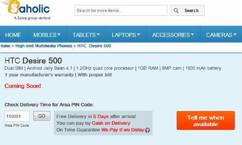 HTC Desire 500: Quad Core Smartphone Coming Soon to India