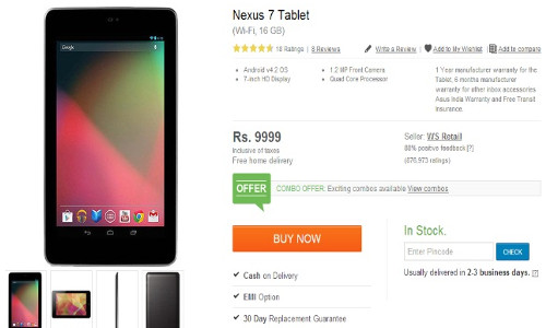 Price Drop: Nexus 7 For Rs 9,999; iPhone 4 Rs 21,500