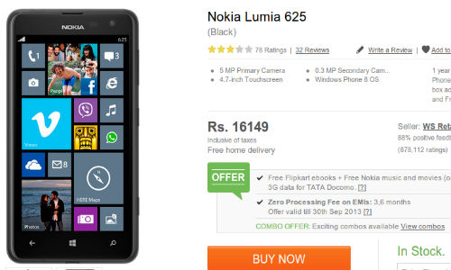 Nokia Lumia 625 Price Cut: Now Available at Rs 16,149