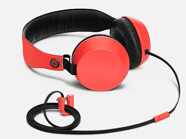 Red Knock Headphones With Mic