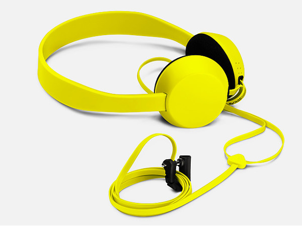 Yellow Knock Headphones WIth Mic