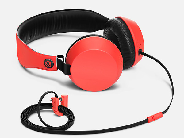 Red Boom Headphones With Mic