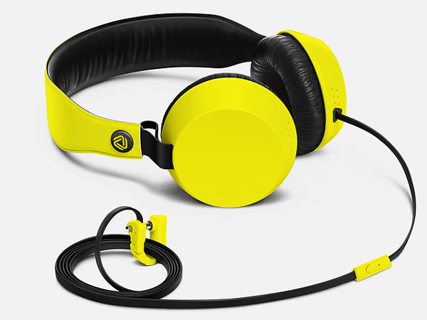 Yellow Boom Headphone With Mic