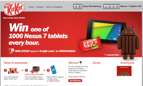 Google To Give Away 1000 Nexus 7 Tablets As A Part Of KitKat Contest