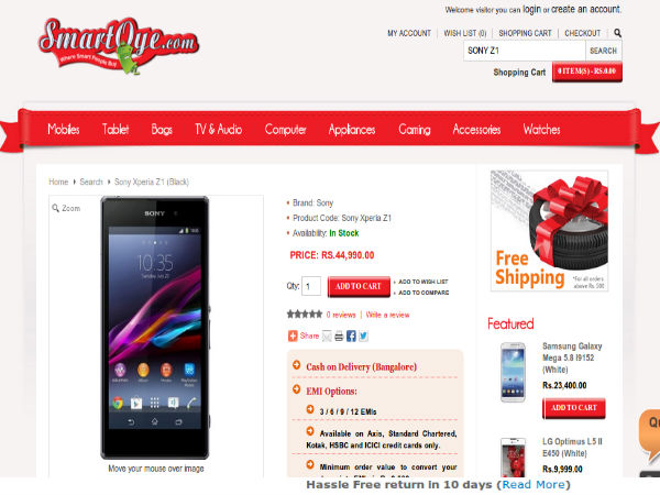 Price At Rs 44,990 Offer:(Up To 3 / 6 / 9 / 12 EMIs Option)