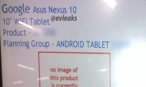 Asus Nexus 10: Alleged Screenshot Confirms Existence of 10 Inch Slate