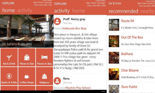 MapmyIndia Launches Explore app for Windows Phone 8 Devices