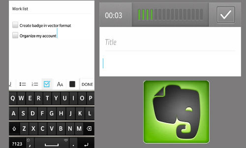 Evernote for BlackBerry 10 Updated with Checkboxes and Image support