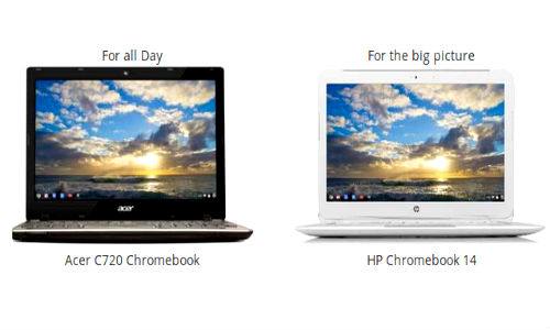 Google Chromebooks From Acer and HP Go On Sale in India Today