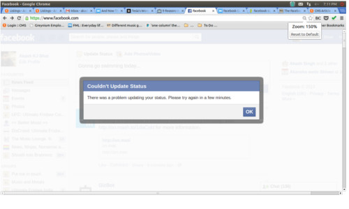 Facebook Outage: Does Not Allow Users To Update Status Messages