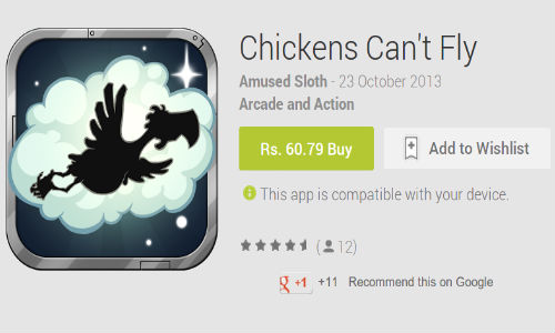 Chickens Can't Fly For Android Devices Now Available in India