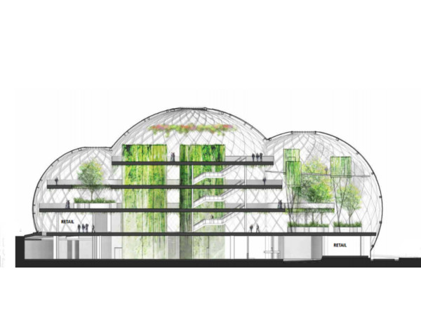 Amazon's Proposed Glass Sphere Office Building