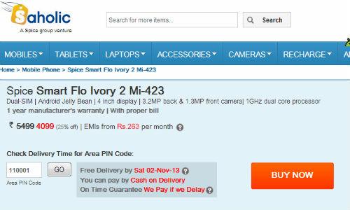 Spice launches Smart Flo Ivory Mi-423 and Smart Flo Edge Mi-349
