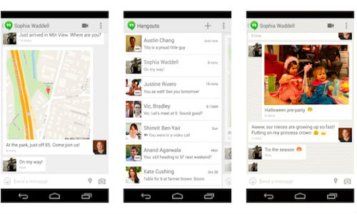 Google Hangouts Updated with SMS Integration, GIF support And More