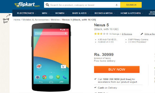 Google Nexus 5 Spotted Online for Rs 30,999: Will You Buy It?
