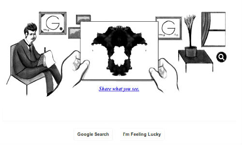 Google Celebrates Hermann Rorschach's 129th Birthday With a Doodle