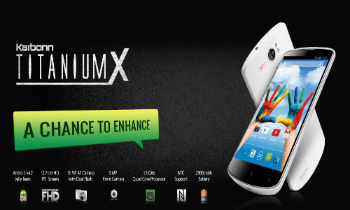 Karbonn Titanium X: 5 Inch FHD Smartphone With NFC Coming Soon