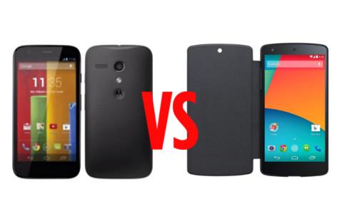 Moto G Vs Nexus 5: Google's New Offerings Compared