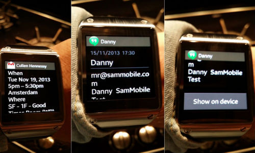 Samsung Galaxy Gear Can Now Show Full Notifications for Every App