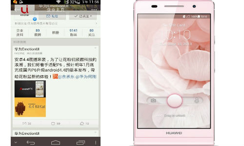 Huawei Ascend P6 to Receive Android KitKat Update By January 2014