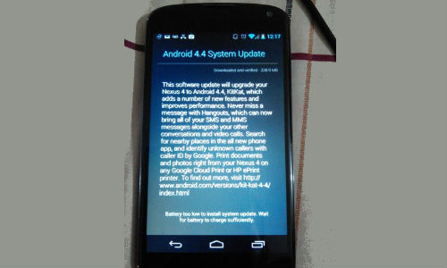 Android 4.4 Kitkat Update Starts Rolling Out For Nexus 4 Device