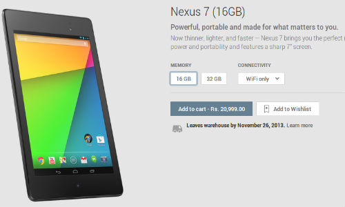 Google Nexus 5 and Nexus 7 Now Available in India Play Store