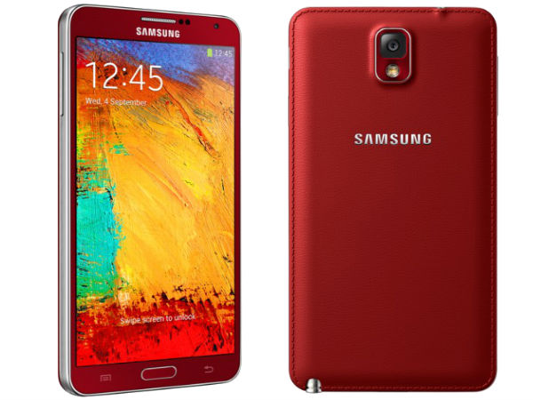 Samsung Galaxy Note 3 in Red and Rose Gold Rumored To Come in January
