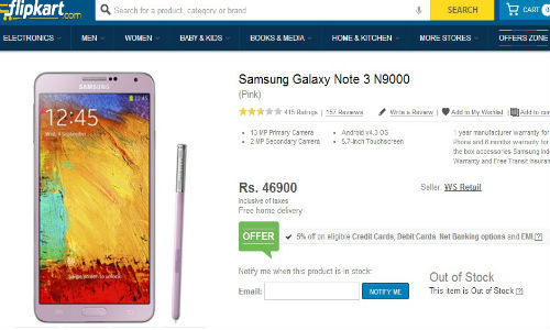 Samsung Galaxy Note 3: Blush Pink Variant Pops Up Online in India